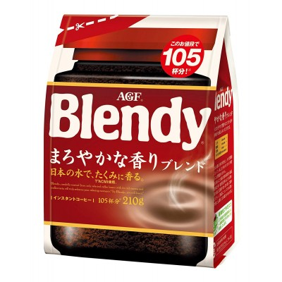 Японский растворимый мягкий кофе AGF Blendy