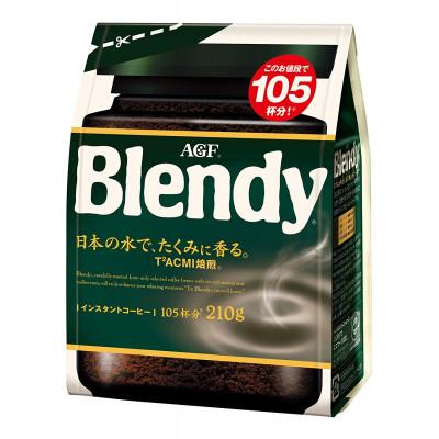 Японский растворимый кофе AGF Blendy средней крепости