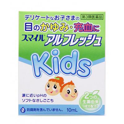 Японские детские глазные капли Smile Al Fresh Kids