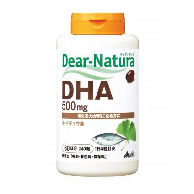 Японская биодобавка Asahi  Dear-Natura DHA и Гинкго Билоба