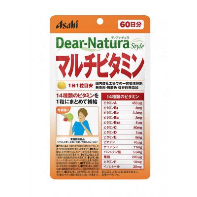 Японские мультивитамины Asahi Dear-Nature Multi-Vitamin