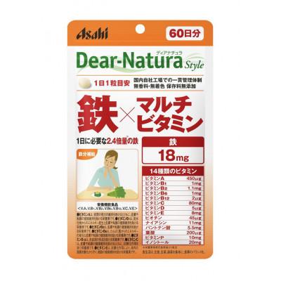 Японские поливитамины и железо Dear-Natura Asahi
