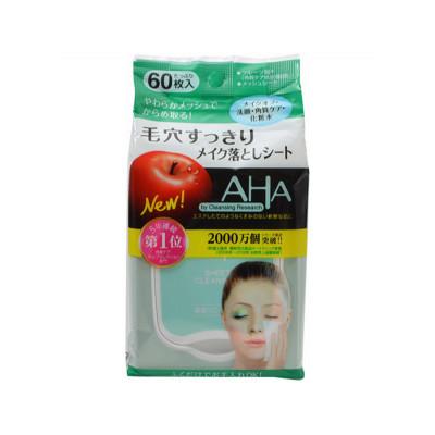 Японские салфетки для снятия макияжа BCL CLEANSING RESEARCH AHA