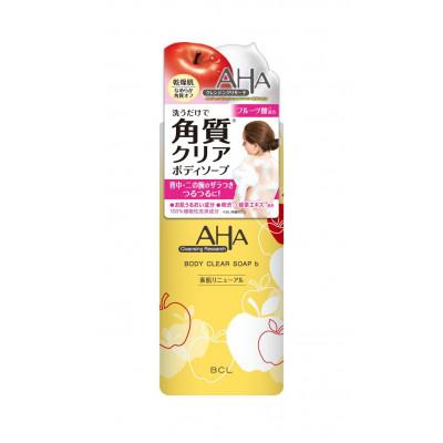 Японский гель для душа с эффектом пилинга BCL Cleansing Research Body Clear Soap AHA (Soft type)