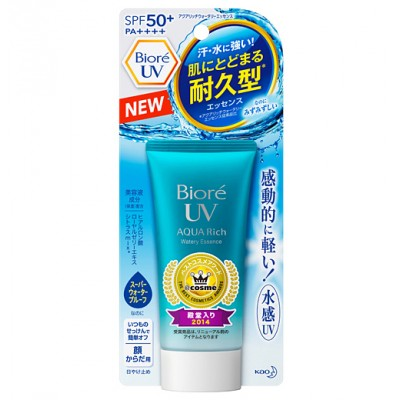 Японский солнцезащитный крем KAO Biore Aqua Rich Watery Essence SPF 50 + PA++++