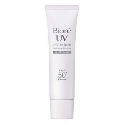 Японский солнцезащитная эссенция с отбеливающим эффектом Biore UV Aqua Rich Whitening Essence SPF50+ PA++++