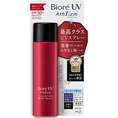 Японский солнцезащитный спрей Biore UV Athlizm Skin Protect  Spray SPF 50+ PA ++++