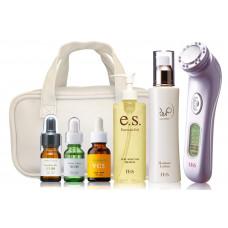 Набор для ухода за кожей с ультразвуковым аппаратом Twin Elenaizer PRO 2 Home Este DX и набором косметики Ebis