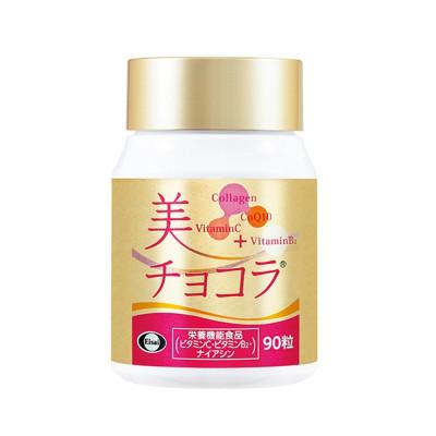 Японский коллагеновый пептид, коэнзим Q10, витамин С для  женщин после Eisai