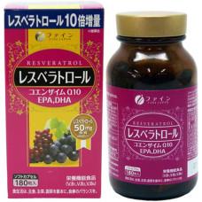 Ресвератрол, коэнзим Q10, DHA, EPA - FINE JAPAN