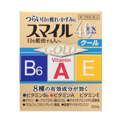 Японские капли для глаз Lion Smile 40 EX Gold