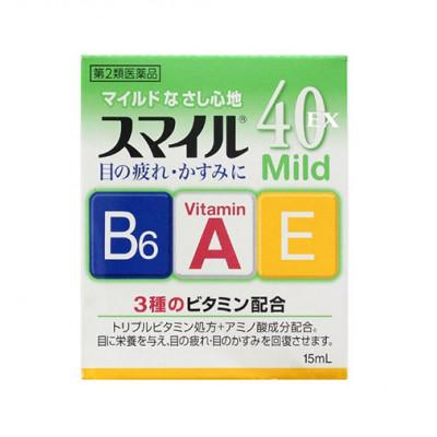 Японские витаминные капли для глаз Lion Smile 40 EX Mild
