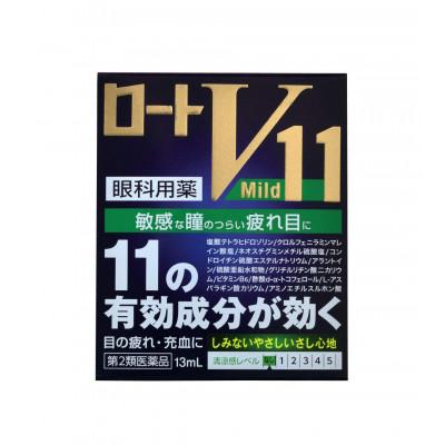 Японские антивозрастные капли для глаз Rohto V11 Mild
