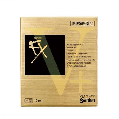 Японские глазные капли с витамином B6 и таурином от усталости глаз Sante Fx V+