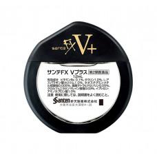 Глазные капли Sante Fx V+ с витамином B6 и таурином от усталости глаз