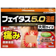 Обезболивающий пластырь для поясницы с разогревающим эффектом Hisamitsu