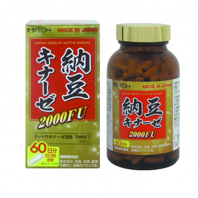 Японская наттокиназа 2000FU на 2 месяца Itoh