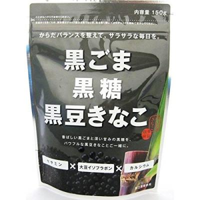 Японский кинако с чёрным кунжутом, черным сахаром и черной фасолью KOUTA SHOUTEN