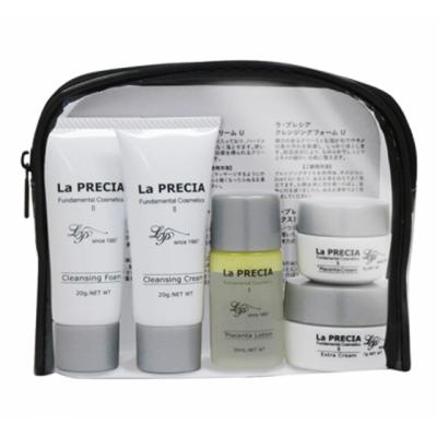 Дорожный набор японской плацентарной косметики для лица La PRECIA 7 Days Trial Set 1 (Cream)