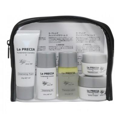 Дорожный набор японской плацентарной косметики для лица La PRECIA 7 Days Trial Set 1 (Oil)