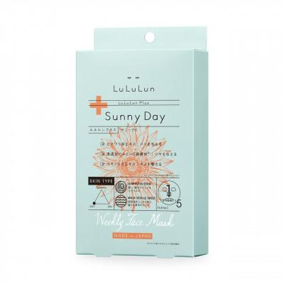 Набор японских тканевых масок для лица с экстрактом подсолнечника – LuLuLun Plus Равномерная яркость