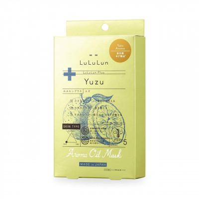 Японскаие арома-маски с эфирным маслом Юдзу - Lululun Plus Помощь при стрессе