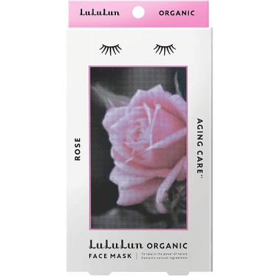 Японская антивозрастная маска с розой Lululun Organic