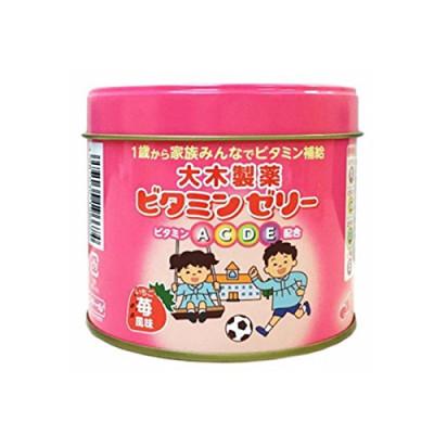 Японские детские витамины А, С, D, E со вкусом клубники