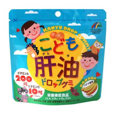 Японский витаминный комплекс для детей с Омега-3 и Омега-6 со вкусом банана Riken
