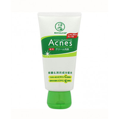 Крем для умывания Mentholatum Acnes Medicated Cream Face Wash Rohto