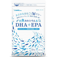 DHA EPA с рыбным кальцием и витамином Д Seedcoms