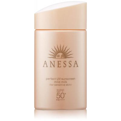 Японское мягкое солнцезащитное молочко Anessa Perfect Mild Milk UV SPF 50+ PA ++++