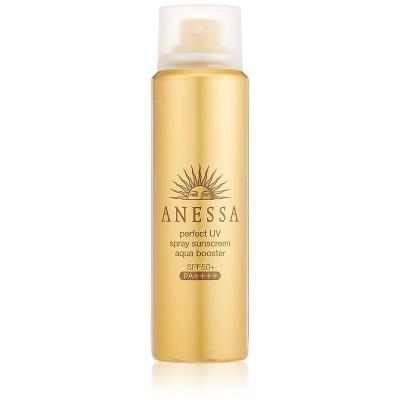 Японский мощный солнцезащитный спрей для ухода за кожей Anessa Perfect UV Spray Aqua Booster SPF 50+ PA ++++