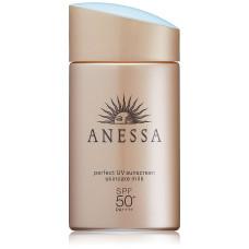 Стойкое солнцезащитное молочко с ухаживающими компонентами Anessa Perfect UV SPF 50+ PA ++++