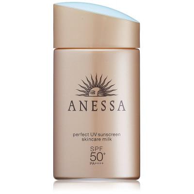 Японское стойкое солнцезащитное молочко с ухаживающими компонентами Anessa Perfect UV SPF 50+ PA ++++