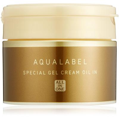 Японский увлажняющий крем-гель Shiseido Aqua Label c маслами 5 в 1
