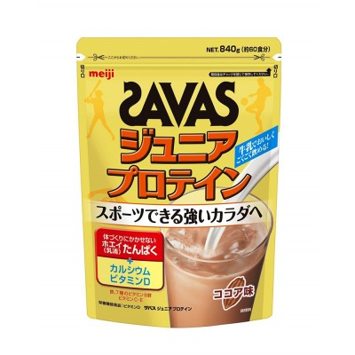 Японский протеиновый коктейль Junior Protein Cocoa Savas Meiji
