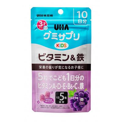 Японские детские витамины с железом UHA