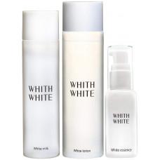Набор отбеливающей косметики (тонер, сыворотка, молочко) WHITE WHITE