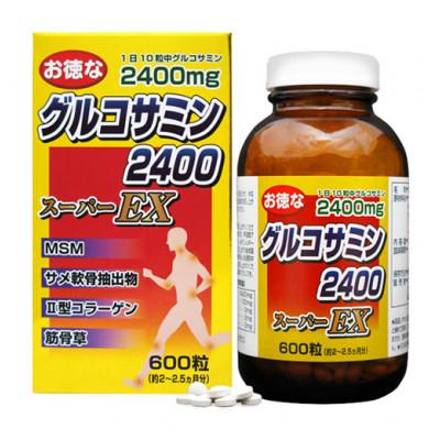 Японский MSM Глюкозамин 2400 EX Yuki
