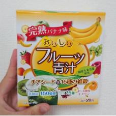 Аодзиру из ячменя с семенами чиа и 16 видами злаков со вкусом спелых бананов Yuwa